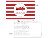 Firetruck Personalized Placemat for Kids, Firetruck Placemat