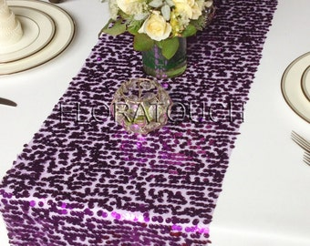 Purple Sparkling Sequins Wedding Table Runner