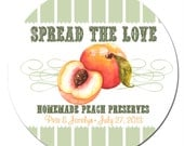 Spread the Love Wedding Favor Stickers  - Custom Labels // Vintage // Pick Your Fruit