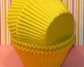Jumbo Sunshine Yellow Cupcake Liners  (32)