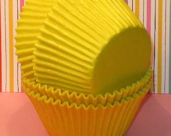 Jumbo Yellow Cupcake Liners (Qty 32) Jumbo Yellow Muffin Cups, Jumbo Yellow Baking Cups, Jumbo Cupcake Liners, Jumbo Muffin Cups, Baking Cup
