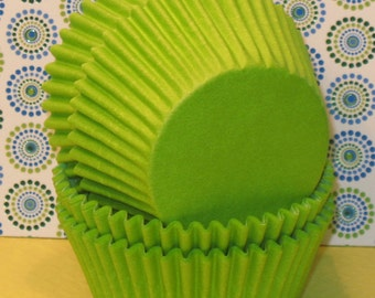 Lime Green Cupcake Liners  (45)