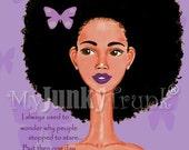 BOGO PRINT SALE- Hair Envy---African American Art Natural Hair Art Black Art Afro Woman Print