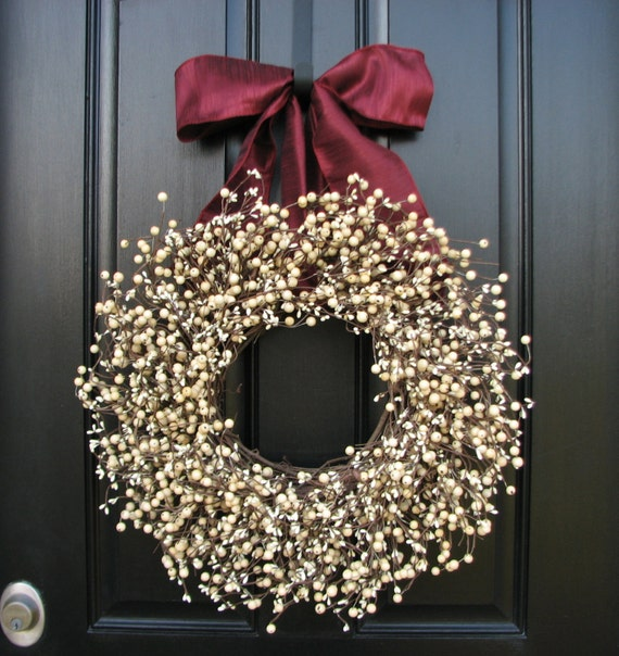 Christmas Weddings Decorations: Wedding Decorations Christmas Wreaths Berry Wreaths Wreaths