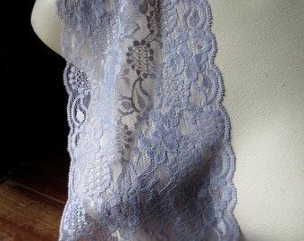Stretch Lace in Lavender Gray for Headbands, Lingerie FREE TUTORIAL STR 5006