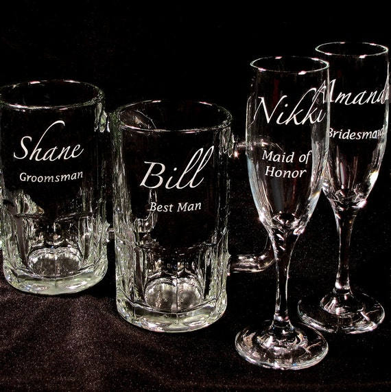 Wedding Party Gifts Toasting Flutes, Beer Steins, Engraved Gifts ...