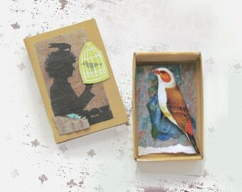 Matchbox Art - Free Bird