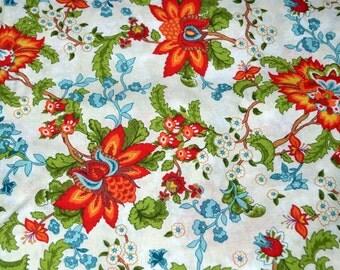 One Yard Large Orange Flower Fabric