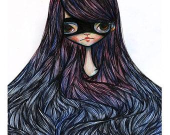 5x7 Fine Art Print - 'Nadia' - Small Giclee Print - Artwork by Jessica Grundy
