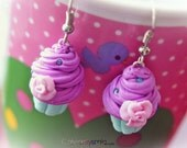 Pastel Bubblegum Cupcake Earrings