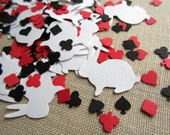 Alice In Wonderland Confetti, Card Suit Table Decor, Poker Party Decorations