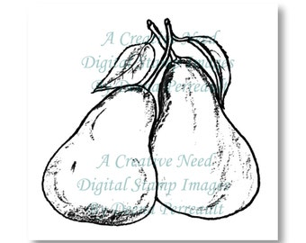 INSTANT DOWNLOAD Digital Stamp Image Perfect PEARS