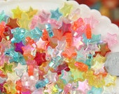Plastic Star Beads - 10mm Small AB Iridescent Plastic Acrylic or Resin Star Beads - 200 pc set