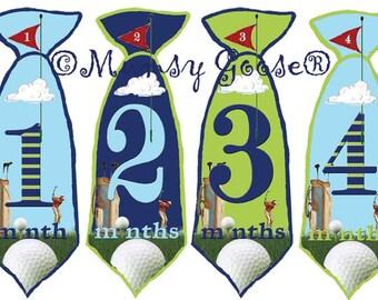 Baby Boy Monthly Tie Stickers Baby Months Stickers Boy NeckTie Age Labels 1-12 Month Golf Milestones boys 1st year Great Newborn Photo Prop