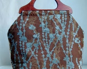Climb on Brown Large Craft Project Tote/ Knitting Tote Bag - READY TO SHIP