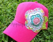 Machine Embroidery Design Applique Raggy Flower Hat Tutorial INSTANT DOWNLOAD