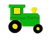 Machine Embroidery Design Applique Tractor Mini INSTANT DOWNLOAD