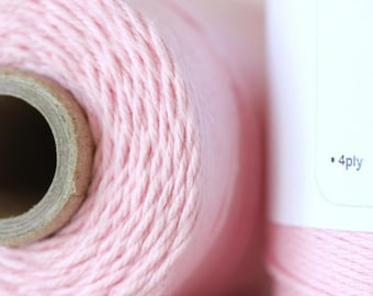 240 Yards (Full Spool) of Bakers Twine . Solid Blossom Pink