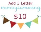 ADD a 3 Letter Monogram