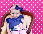 Photography Backdrop - 4.5' x 5.5' Bright Pink Polka Dot