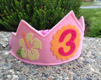 Aloha Personalized Birthday Crown