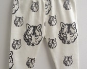 littlefour organic cotton knit wolf print toddler leggings 2T 3T 4T and 5T