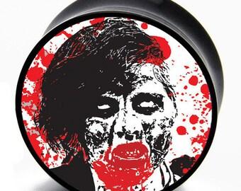 0g (8mm) Zombie Invasion Print BMA Plugs Pair