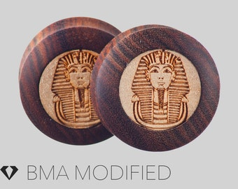 """1 & 1/4"""" (32mm) Pharaoh in Chechen Wood Plugs #3733"""