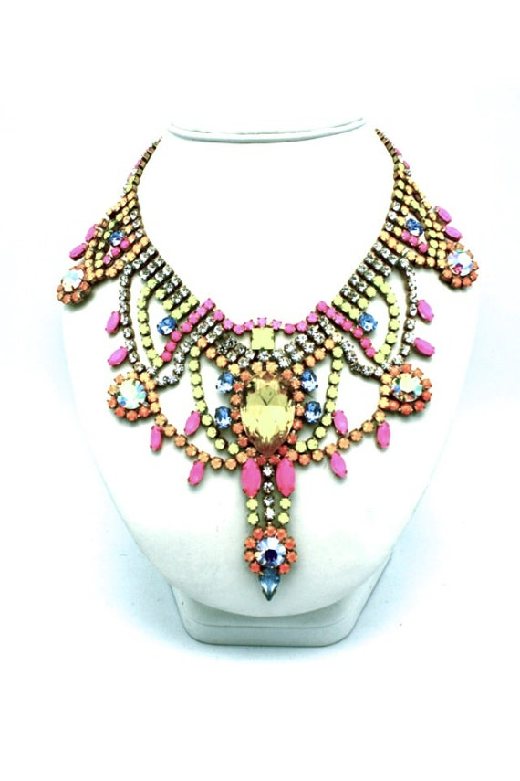 One of a Kind Statement Necklace- Tokyo