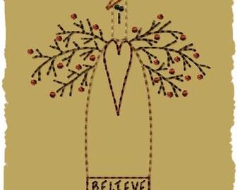 Primitive Machine Embroidery Design-Sara--Version 2--(4x4)-INSTANT DOWNLOAD