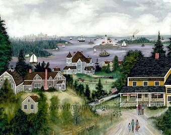 Boston Harbor - Limited Edition Print _ by J.L. Munro