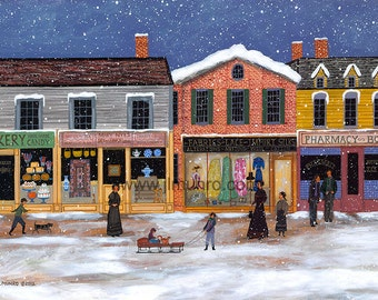 Winter on Main Street - Limited Edition Print _ by J.L. Munro