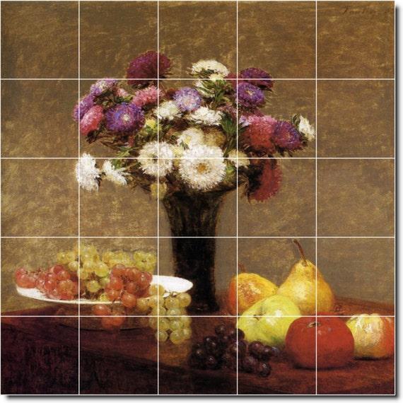 S-M-L-XL Custom Ceramic Fruit Vegetables Painting Tile Mural