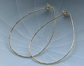 Xthin Textured 14k Gold Fill Hoops