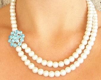 Bridal Jewelry Wedding Necklace Wedding Jewelry Turquoise Necklace Bridal Necklace Bridesmaid Gift