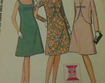 Sleeveless lightly fitted flared dress and jacket - 1960's McCall's 7784 size 9