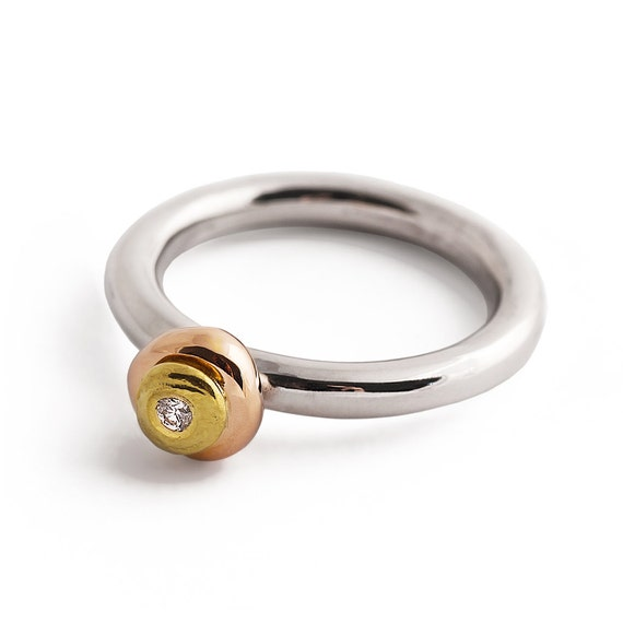 tricolor gold ring sterling silver and gold engagement by