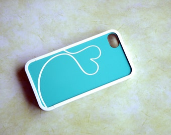 Mint Blue and White Love Custom Insert with Bumper for iPhone 4, 4s, 5, 5s, 5c, 6, 6s, 6 Plus, 6s Plus Case, Galaxy S3, S4, S5, S6 Case