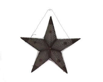 50s Metal Christmas Star As Is / Light Up Star / Large Star / Industrial Holiday Decor