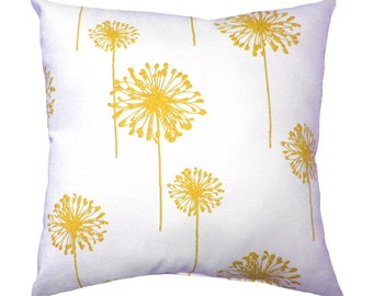 Yellow Throw Pillow  - Dandelion Corn Yellow Decorative Throw Pillow - Free Shipping