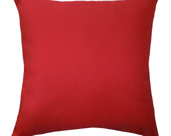Premier Prints Solid Lipstick Red Double Sided Decorative Throw Pillow - Free Shipping