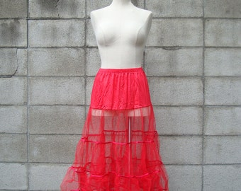 Red Crinoline Vintage Adult Tutu Women's Petticoat reserved
