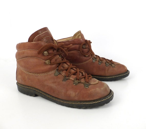 esprit hiking boots vintage 1980s leather lace up ankle