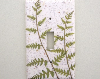 Fern single lightswitch cover switchplate