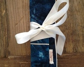 No-Tangle Dark Teal Blue Batik Print Jewelry Travel Roll 6pc or 12pc