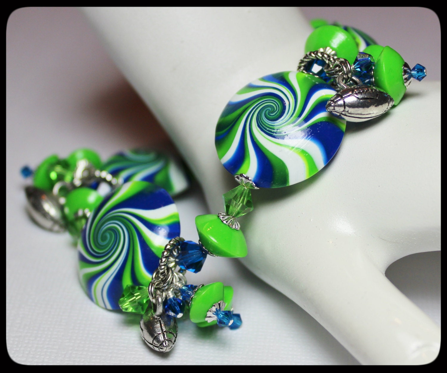 handmade jewelry seattle seattle seahawks handmade jewelry bracelet beaded cha cha 9030