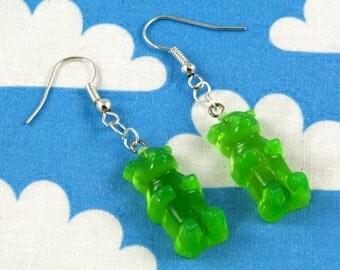 Gummy Bear Earrings Green