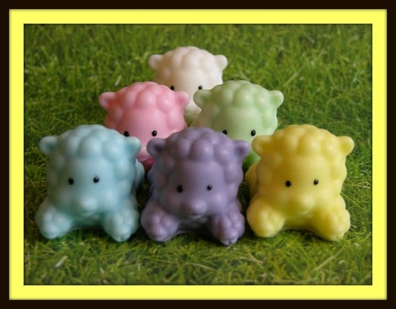FLUFFY PUFFY SHEEP LaMBS SoAP Baby Shower by ...