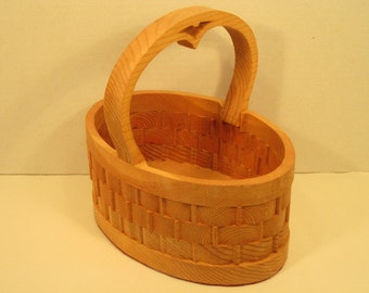 Oval Basket Large Handmade