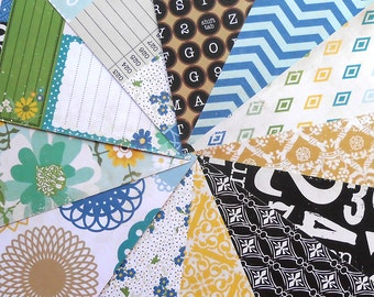 DESTASH - Echo Park For the Record: Documented - Pack of 12 Different Double-sided Scrapbook Papers, 6 inch X 6 inch